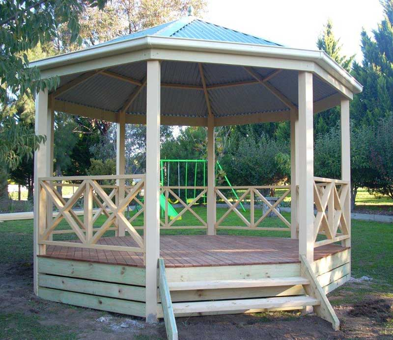 This Gazebo Can Be Built 6 Or 8 Sided And Supplied With Timber Deck Concrete Floor To Suite