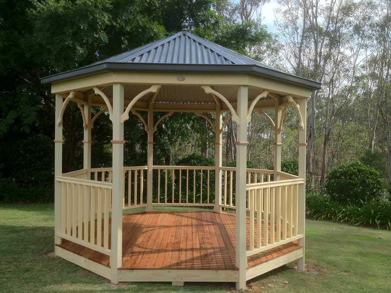 Contact us custom built gazebos for Built in gazebo