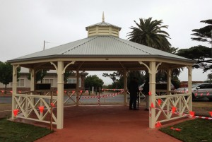 Gazebo opening in mornington Park